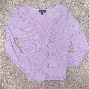 Express lavender sweater
